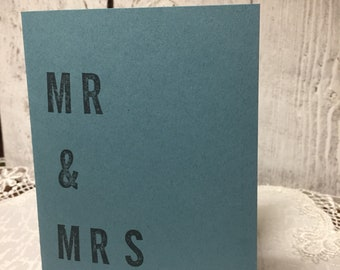 Mr & Mrs // wedding card • engagement card • greeting card • blank inside •