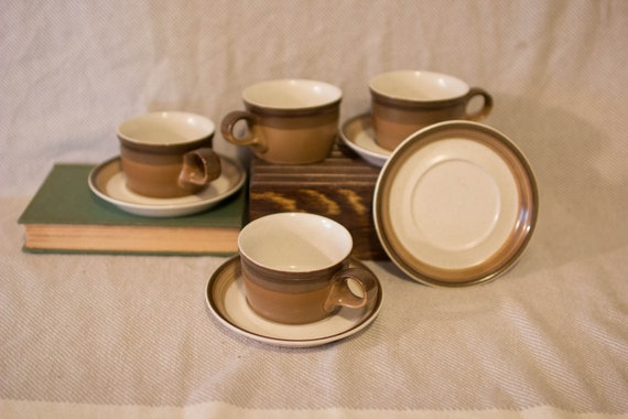 Mikasa Potters Art Ben Seibel Design Cups And Saucers Etsy