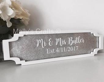 wedding plaque etsy