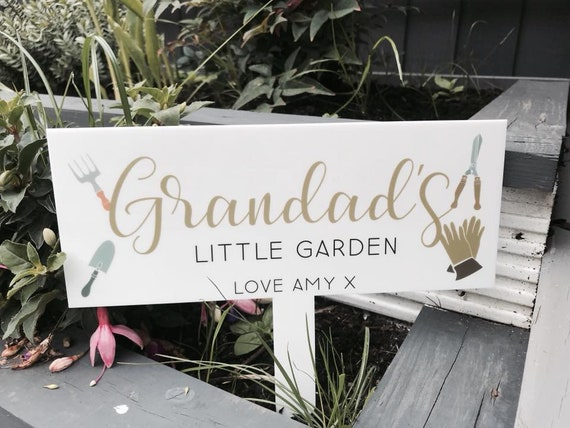Gardening Gifts For Him >> Personalised Grandad S Garden Gifts For Him Gardening Garden Gift Grandpa Grandparents Father S Day Birthday