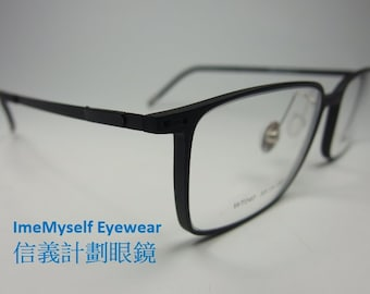 6e2428f70756 ImeMyself Eyewear Watanabe Toru WT040 beta titanium extra light weight  rectangular frame optical spectacles Rx prescription clear eyeglasses