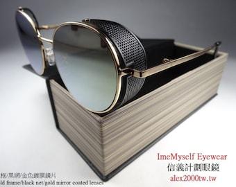279278b4c29 Watanabe Toru round net side shield frame sunglasses Rx prescription  optical spectacles eyeglasses CP ratio  Lewis Hamilton Dita Thom Browne