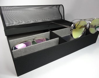 Baby Pink/&Blue Butterfly Collection Glasses Case Eyeglasses Clam Shell Holder Storage Box
