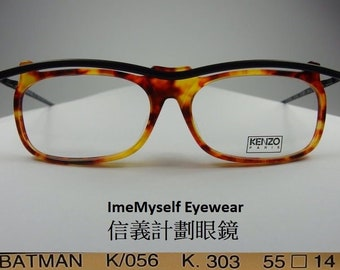 cb9d51e0279 ImeMyself Eyewear KENZO BATMAN K056 handmade optical frame Rx prescription  applicable rectangular eyeglasses