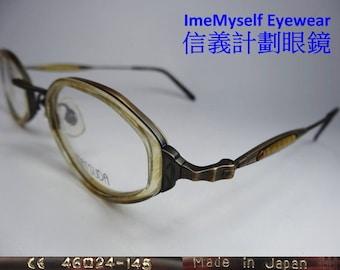 53bdfb9c3a85 ImeMyself Eyewear Matsuda 10405 vintage optical frame eyeglasses antique  gold   silver