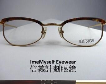 b682c86e62b ImeMyself Eyewear Matsuda 10404 rare vintage optical spectacles Rx  prescription small browline Wellington frames eyeglasses 45口21 145   Dita