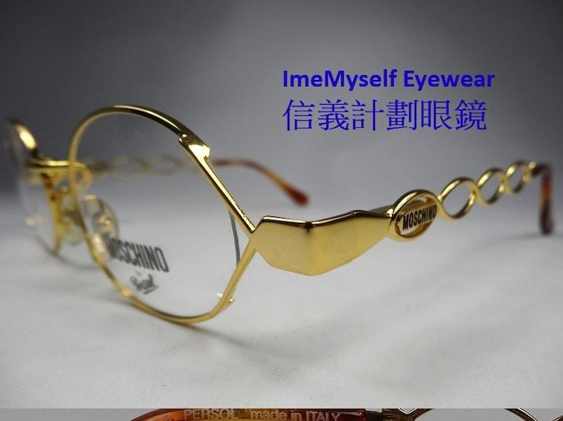 3b0db072a659 ImeMyself Eyewear MOSCHINO by Persol MM344 hollow round frame | Etsy