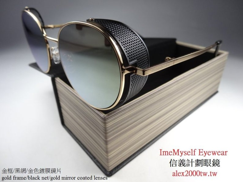 60be9d853 Watanabe Toru round net side shield frame sunglasses Rx | Etsy