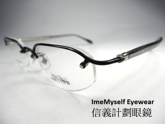 Jean Paul Gaultier JPG 55-0049 vintage titanium half rim optical frame spectacles RX for reading glasses transitions lens eyeglasses \u9226\u91d1\u5c6c \u773c\u93e1