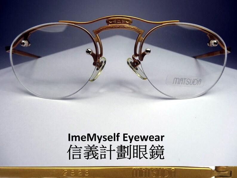 760b4cf285 ImeMyself Eyewear Matsuda 2823 Rare classic vintage half-rim