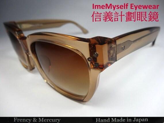 f1de0e916b7 ImeMyself Frency   Mercury Night Cabaret handmade in Japan optical frame Rx  prescription applicable rectangular UV protection sunglasses
