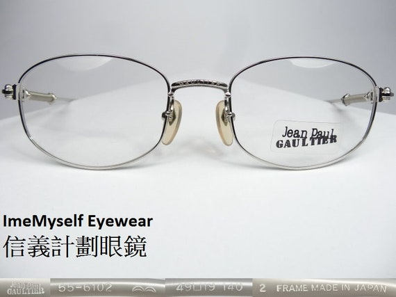 43587cabd4 ImeMyself Eyewear Jean Paul Gaultier 55-6102 Rx prescription frames  eyeglasses spectacles for near far sighted transition reading lenses
