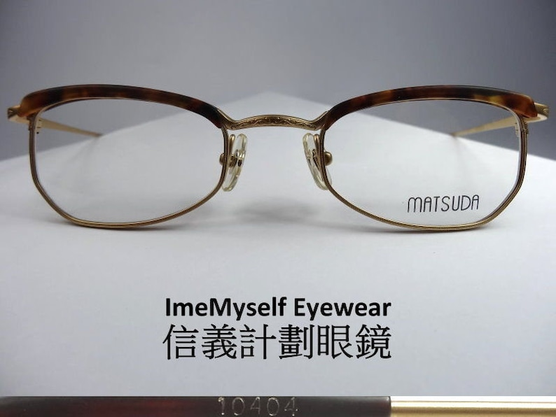cbbfeda7d23 ImeMyself Eyewear Matsuda 10404 rare vintage optical spectacles Rx  prescription small browline Wellington frames eyeglasses 45口21 145   Dita