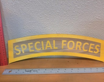 Laser etched 1/2 CEDAR Special Forces TAB 10-18 Inches