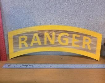 Laser etched 1/2 inch CEDAR plank RANGER TAB 10-18 Inches