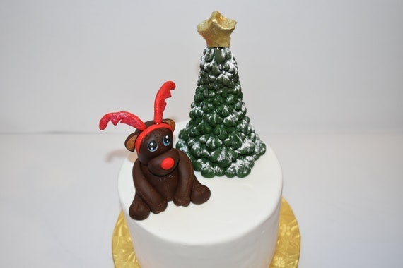 Christmas Cake Decorations.Christmas Cake Decorations Christmas Cake Topper Holiday Cake Decor Holiday Cake Topper Santa Cake Decorations Reindeer Topper