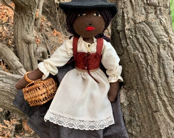 Handmade felt witch doll