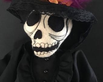 La Catrina stuffed plush figure