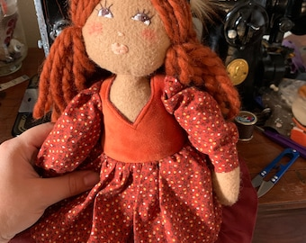 Clementine the autumn witch doll