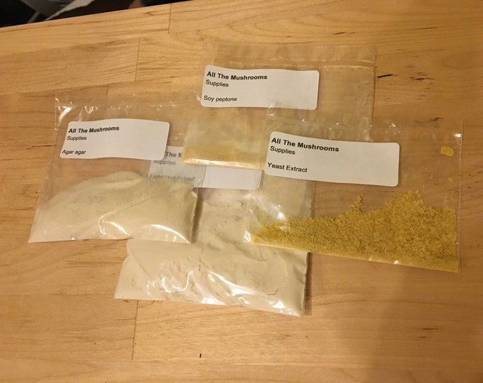 Pre-weighed agar/LC kit for 20 plates - 750mL / FREE Canadian shipping / Mushroom growing