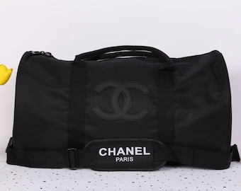 8115571172dd NEW Authentic CHANEL VIP Duffle Luggage Travel Gym Bag With Strap