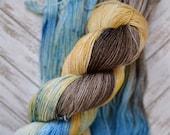 """Fingering Weight """"Terra"""", 100% Superwash Merino, Hand Dyed Yarn, Sock Weight, 100g Skein"""