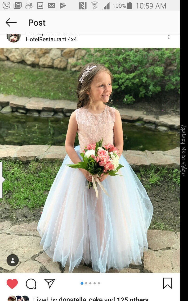 a4142a836a458 Rainbow Flower girl dress. Communion. Big or small girl