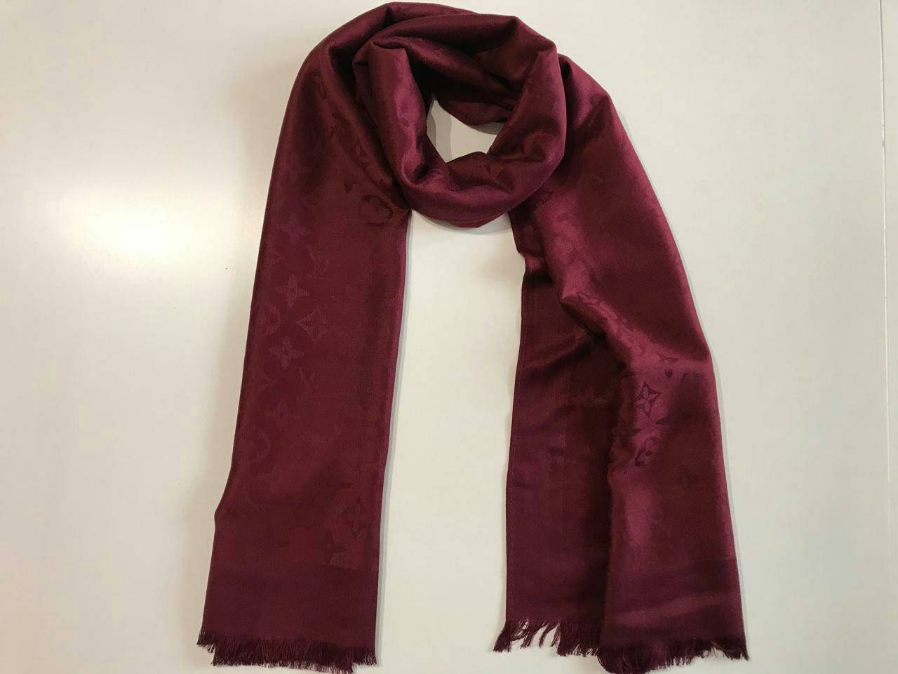 bcfeccfdf65b Cachemire châle rouge en foncé laine écharpe châle monogramme laine fuchsia  foulard écharpe