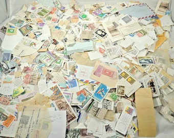 1000+ Worldwide Postage Stamp Grab Bag / On and Off Paper / Used + Bonus Gift