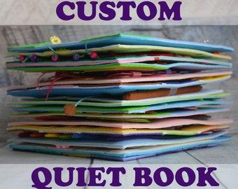 Custom quiet book baby Felt toddler busy book Montessori fabric activity book 1-4 years