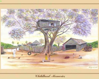 Art Print - Childhood Memories - Australiana - Australian Country and Landscapes - Darcy Doyle Style
