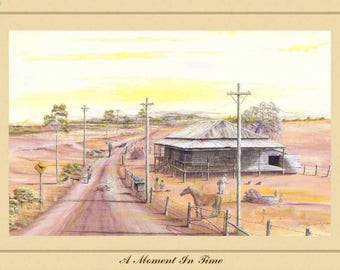 Art Print - A Moment in Time - Australiana - Australian Country and Landscapes - Darcy Doyle Style