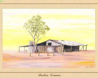 Art Print - Broken Dreams - Australiana - Australian Country and Landscapes - Darcy Doyle Style