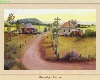 Art Print - Country Dreams - Australiana - Australian Country and Landscapes - Darcy Doyle Style