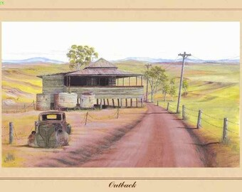 Art Print - Outback - Australiana - Australian Country and Landscapes - Darcy Doyle Style