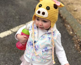 Toddler Giraffe Hat