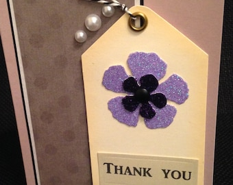 Thank You Card with Pearl Accents