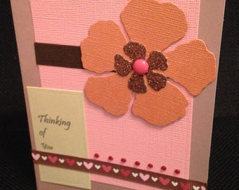 Thinking of You Card with Hearts