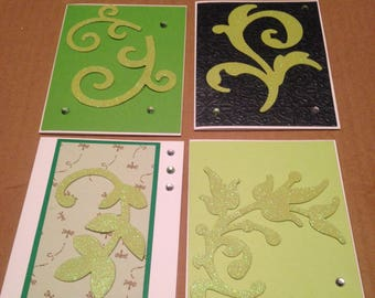 Set of Four Blank Greeting Cards