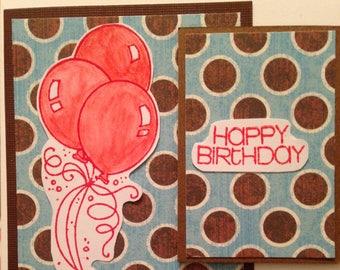 One handmade birthday card.