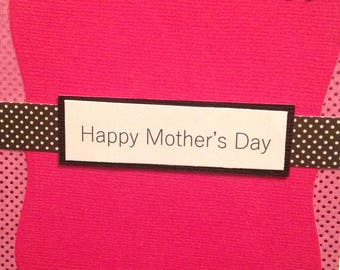 Pink and Black Mother's Day Card