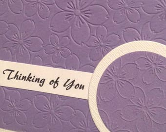 Purple Thinking of You Card