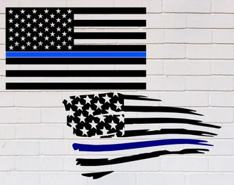 american flag thin blue line svg back the blue svg blue lives matter svg distressed svg police svg svg dxf eps png pdf shirt