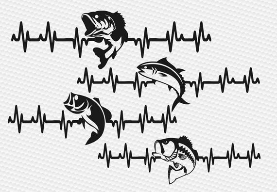 Download Fishing Svg Fish Svg Fisherman Svg Heartbeat Svg Fishing Etsy