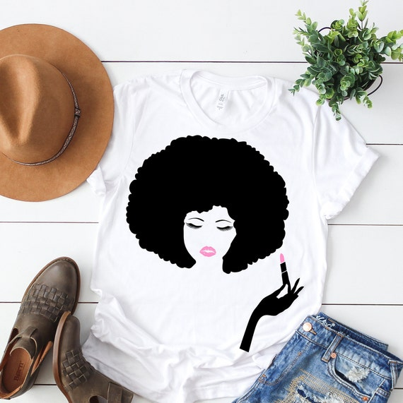 african american woman lipstick svg afro hair svg eyelashes etsy