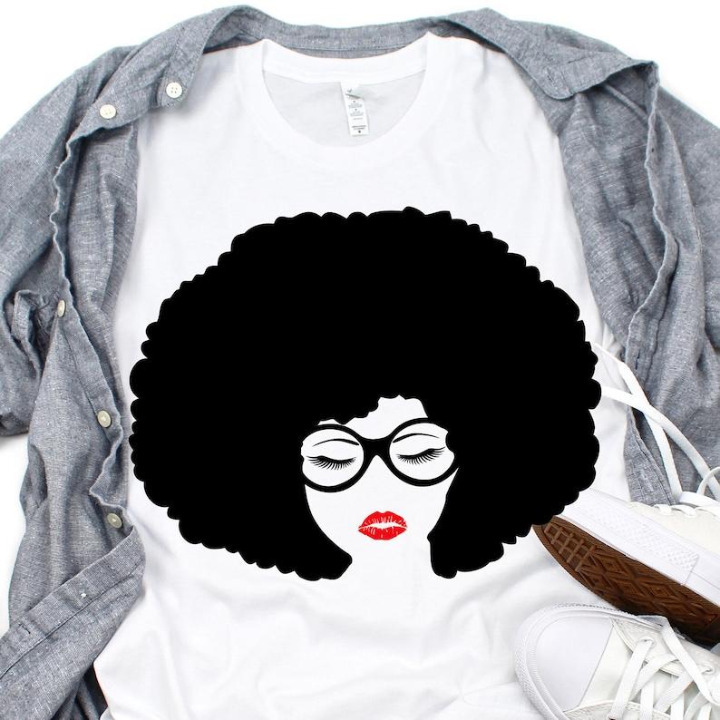 21b5ddbcd3b African american woman svg Afro hair svg black lady svg | Etsy