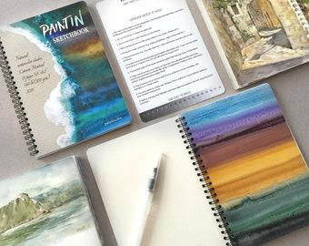 PaintIN Sketchbook Watercolor Sketchbook Watercolor Palettes Aqua Brush Artbook Coloring book
