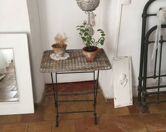 Vintage foldable side table / end table / nightstand