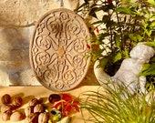 RARE Belle Epoque cast iron trivet, ornate antique French Art Nouveau hotplate, pot holder, electric tray, Acanthus leaf table centerpiece