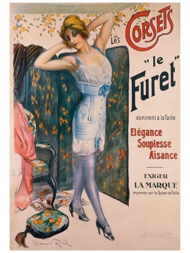 French corset 1950/'s  Vintage girdle photo prop